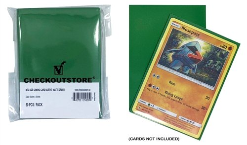 CheckOutStore 10,000 Matte Green Protective Sleeves for Trading Cards (66 x 91 mm)