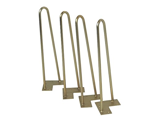 16'' Beautiful Brass Hairpin Table Legs (Set of 4) by The Coffee Table Company