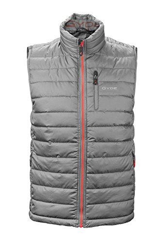 Gyde Men's Calor Puffer Heated Vest - Grey-L