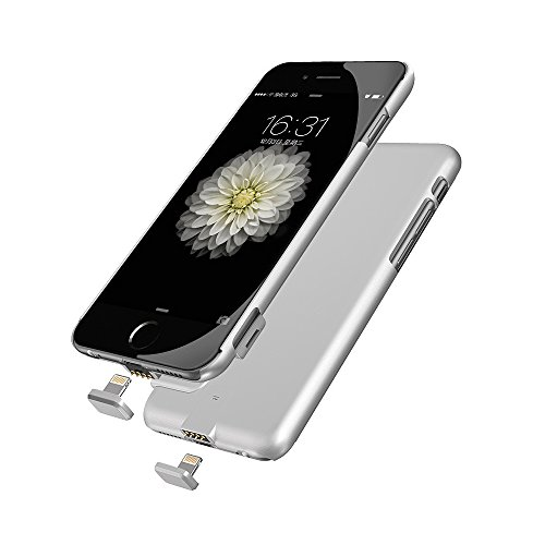 iPhone 6/6S/7 Battery Case, Ultra Slim Extended Battery Charging Case for iPhone 6 / 6s/7 (4.7 inch) with 1500mAh Capacity(Silver)