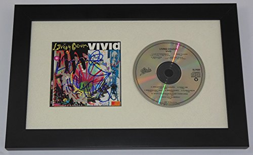 Living Colour Vivid Group Signed Autographed Music Cd Insert Cover Compact Disc Framed Display Loa ()