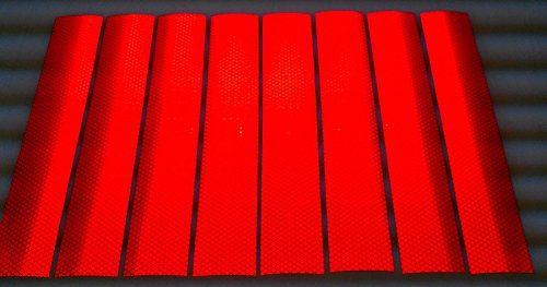 RED-3M-DIAMOND-REFLECTIVE-REFLECTOR-Tape-20-SHEETS-2-x-12-3Ms-BEST