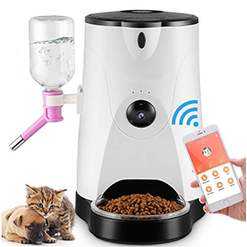 - DJLOOKK Smart Automatic Pet Feeder, Programmable Timer Portions Food Dispenser Designed for Dogs and Cats