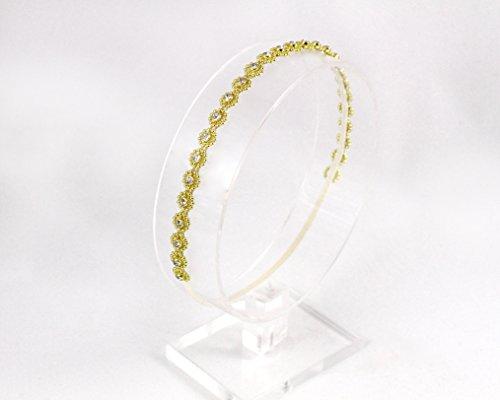 Gold Rhinestone Halo Headband by The Ivory Willow