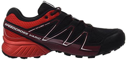 Salomon Men's Speedcross Vario GTX Trail Running Shoes, Lemon Tree Black (Black/Radiant Red/Brique-x)