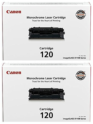 Canon CRG-120 (2617B001AA) Black Toner Cartridge 2-Pack for imageCLASS D1120, D1320 (Cartridge Black 120 Toner)
