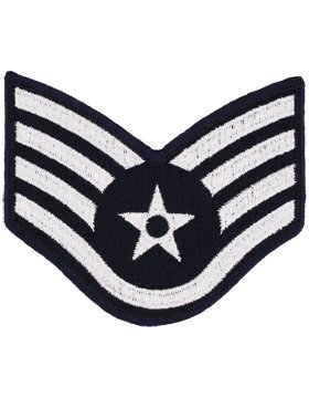 USAF Chevron Blue/Silver (Pair) (Male, Staff Sergeant)