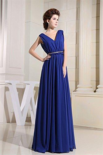Bridal_Mall -  Vestito  - linea ad a - Senza maniche  - Donna nero 44