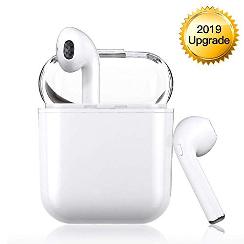 Wireless Headphones 2019 Upgrade , Bluetooth Wireless Earphones 120H Standby time Built-in Dual Mic, Stereo Sound Bluetooth Earphones for Apple Airpods Android iPhone