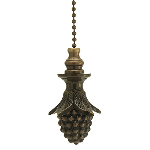 Antique Brass Pinecone Fan Pull 2''h by Finial Showcase