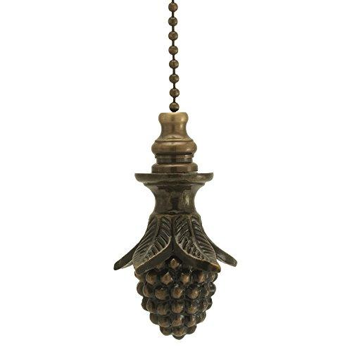 Antique Brass Pinecone Fan Pull 2''h