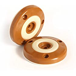 Slipstick CB500 Furniture Feet Floor Protectors with Non Skid Rubber Grip for Furniture Legs (Set of 4) 2 Inch Round - Caramel