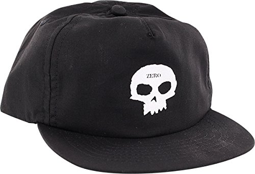 Zero Skateboards Skull Black/White Snapback Hat - Adjustable