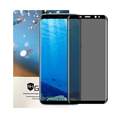 Tiamat Galaxy S8 Plus Privacy Screen Protector, Samsung S8+ Tempered Glass Privacy Film - Black