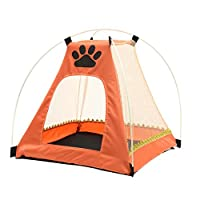 NPLE--Cute Pet Dog Cat Playpen Tent Portable Exercise Fence Kennel Cage Crate