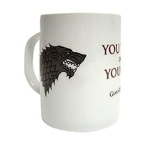 Game Of Thrones SDTHBO27398 - Taza cerámica con diseño You Win Or You Die (SD Toys SDTHBO27398) - Taza Juego de Tronos You Win, You Die