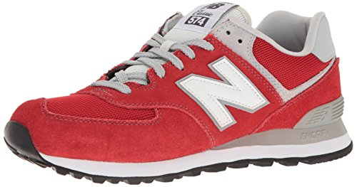 New Balance Mens ML574 Core Plus Sneaker Red/Red