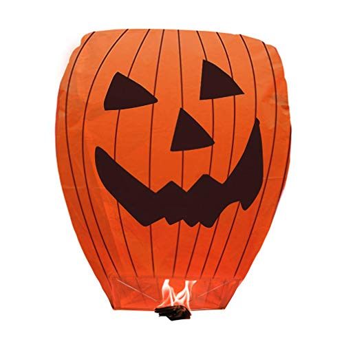 Halloween Chinese Sky Lanterns (BATTIFE Chinese Paper Lanterns 5 Pack 100% Biodegradable Eco-Friendly for Halloween)