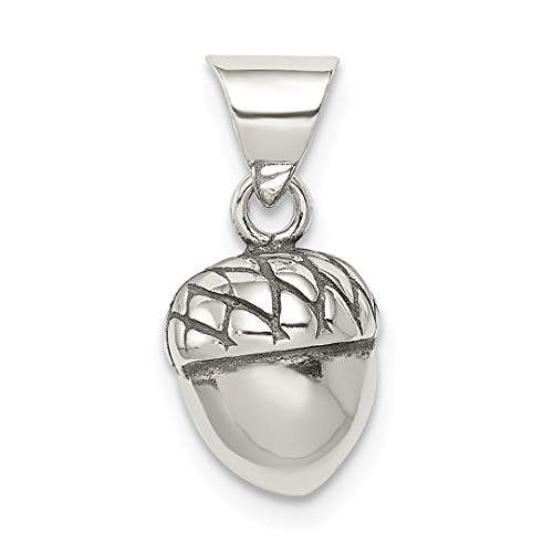 925 Sterling Silver Acorn Pendant Charm Necklace Outdoor Nature Fine Jewelry For Women Gift Set