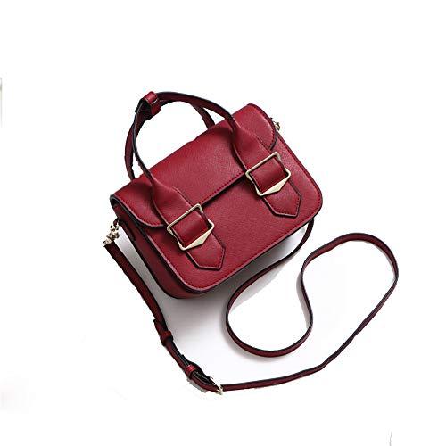 Petit Vert Sweet Femmes Tout Rouge Femmes Sac fourre Sac Main Stockage Fashion Couleur à carré Femmes Femmes Messenger Lady bandoulière Sac bandoulière Xuanbao College pIxwvFBqw