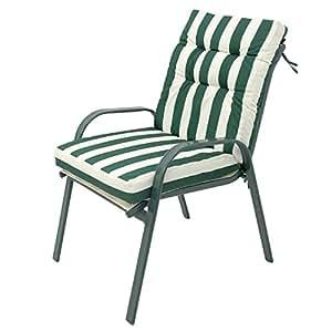 Silla apilable clásica verde de hierro de terraza Garden