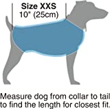 "Kakadu Pet Explorer Double Fleece Dog Coat with Reflective Stripe, 10"", Sea (Blue)"