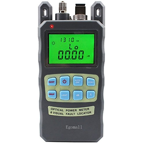 (Egomall Fiber Optic Cable Tester Visual Fault Locator Portable Optical Power Meter Sc and Fc Connector Fiber Tester )