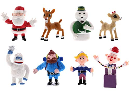 Rudolph the Red Nosed Reindeer Figures - Bring the Story to Life - Ideal for Holiday Decorating, Cake Toppers, Playtime - Includes 2