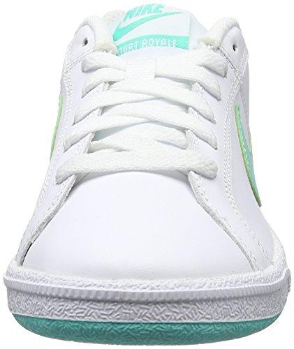 Nike Wmns Court Royale, Zapatillas de Tenis para Niñas Blanco (Blanco (white/hyper turq-white))