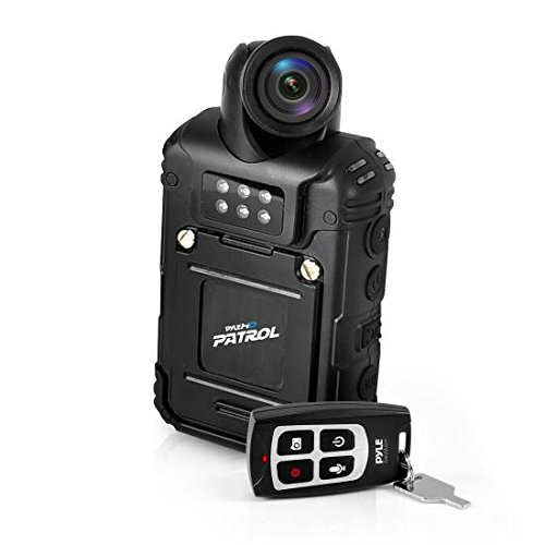 Pyle Rugged 32GB 1080P Water Resistant HD Police Body Camera Night Vision IR, Rechargeable Battery + Remote Control by Pyle