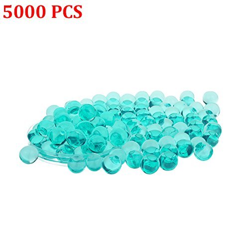 Candora 5000pcs Water Beads Crystals Mud Crystal Water Gel Beads Soil Beads Crystal Soil Plant Flower Jelly Crystal Soil Mud Water Pearls Gel Beads Balls for Kids Vases (6# Lake Blue) (Gold Teal Beads)