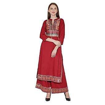 GLOYE Women's Rayon Readymade Salwar Suit