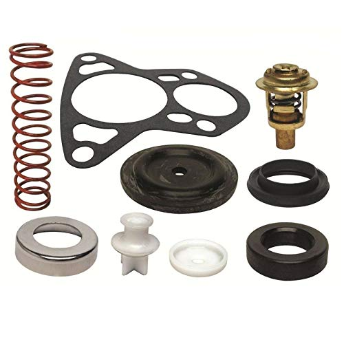 (GLM Thermostat Kit for Johnson Evinrude 150, 175, 185, 200, 235 Hp V6 Crossflow 143° Replaces 18-3674)