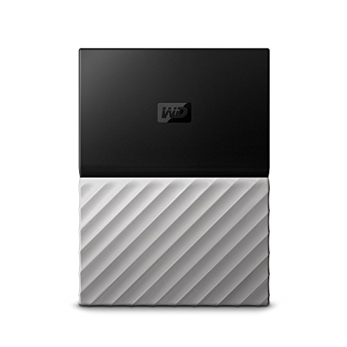 WD 1TB Black-Gray My Passport Ultra Portable External Hard Drive - USB 3.0 - WDBTLG0010BGY-WESN