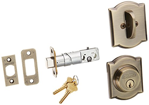 Rounded Strike Plate (Schlage Lock Company B60CAM609 Series Deadbolt Camelot Rose Single Cylinder Deadbolt)