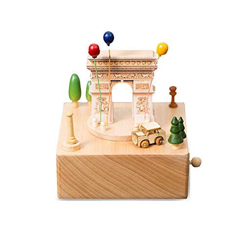 - AOLVO Wooden Music Box Kids Educational Toy Creative New Year Gift Home Decoration Birthday Present for Kids(Arc De Triomphe)