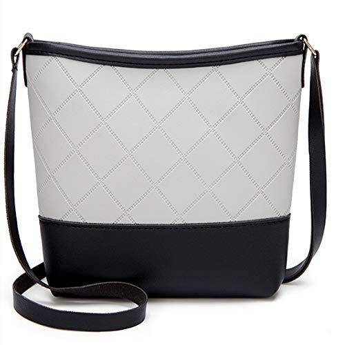 (Women's small bag new line check single shoulder bucket bag crossbody grille mobile phone bag)