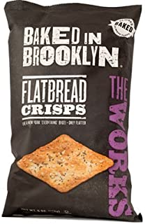 product image for Baked in Brooklyn Flatbread Crisps,The Works, 6-ounce Bags (Pack of 12)