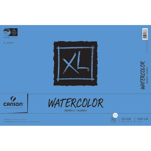 Pro-Art Canson Extra Long Watercolor Paper Pad, 30-Sheet