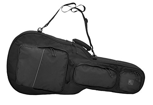 HAZARD 4 RFL-BTAX-BLK Battle Axe Guitar-Shaped Padded Rifle Case, Black