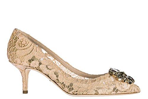 Dolce  Gabbana Damenschuhe Pumps mit Absatz High Heels Bellucci Rosa