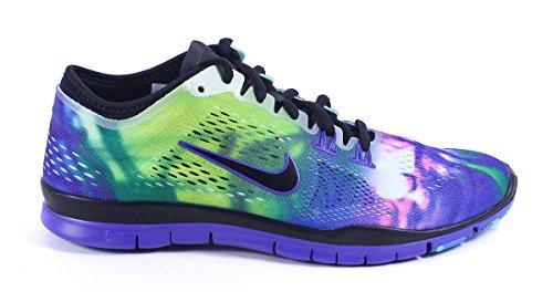 Nike Womens Free 5.0 Tr Fit 5 Nero Viola Viola Persiano Sneaker Nero / Nero-persiano Volt-teal Artigianale
