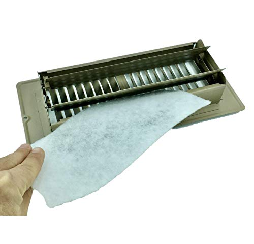 "Vent Register Filters, 24 pieces of Floor Vent filtration of Dust, allergies, odors and more. 4""x10"", 90 day filtration."