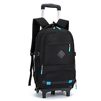 MinegRong 2/6 ruedas nuevos niños mochilas escolares mochilas Trolley mochilas escolares para los niños Kids bolsa de equipaje sobre ruedas Mochila hombres ...