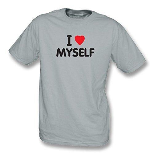TshirtGrill Ich liebe mich T-Shirt, Farbe- Hellgrau