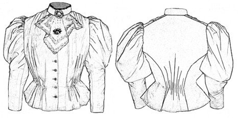 1890s-1900s Fashion, Clothing, Costumes 1893 Blouse Waist Pattern $15.90 AT vintagedancer.com