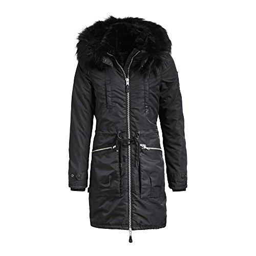 Jacket Chaqueta Nylon Ilena Charcoal Khujo para Mujer Washed tgHwxxqAfF