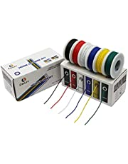 Electrical Wire CBAZY™ Hook up Wire Kit (Solid Wire) 22 Gauge 6 Colors 26.2 feet Each Wires 22 AWG