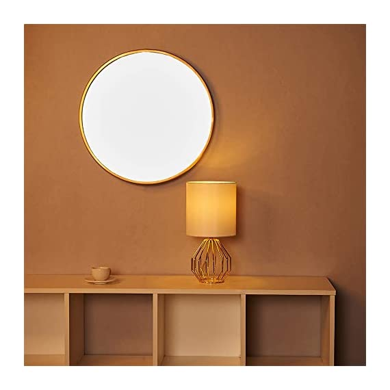 COTULIN Table Lamp,Gold Lamps for Bedroom,Modern Hollowed Out Base Small Table Lamp with White Fabric Shade for Living Room - Size:Height 14.37 inch,diameter 7.09 inch.Please note the size before purchasing. Input:AC 110V-120V,max 60W,E26 socket,fits LED CFL incandescent bulbs(bulb not included). High Quality:All of our products are produced in the standard factory,possessing long service life. - lamps, bedroom-decor, bedroom - 411lSicykzL. SS570  -