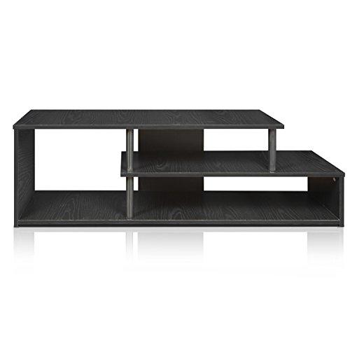 Furinno Econ Low Rise TV Stand, Black/Black